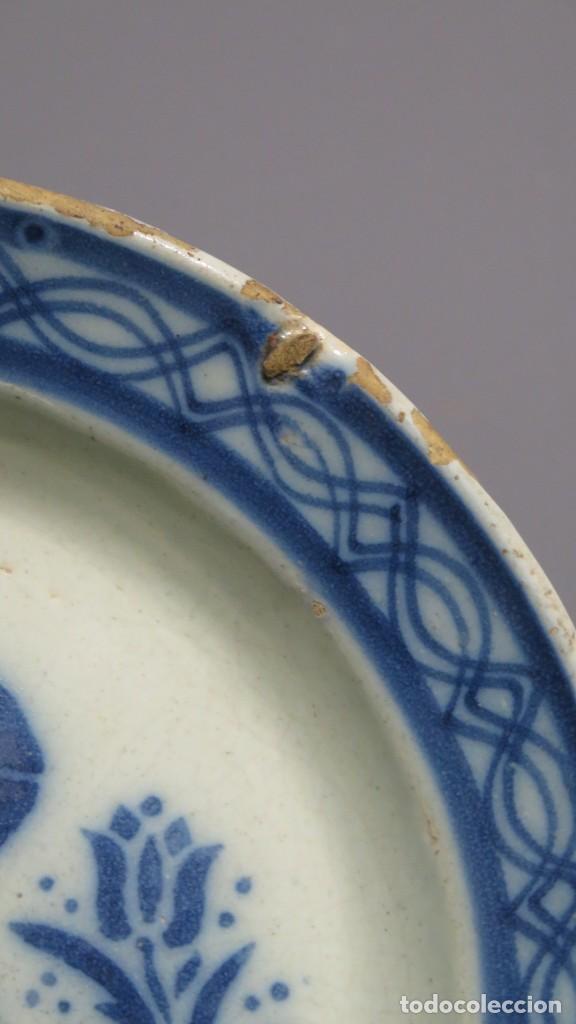 Antigüedades: RARO PLATO DE CERAMICA. TRIANA. SIGLO XIX - Foto 10 - 169681184