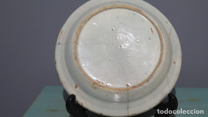 Antigüedades: RARO PLATO DE CERAMICA. TRIANA. SIGLO XIX - Foto 11 - 169681184