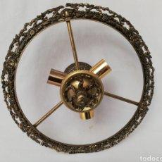 Antigüedades: LÁMPARA DE BRONCE. PIEZAS. FLORON.CORONA. REMATE. DESPIECE.. Lote 169688854