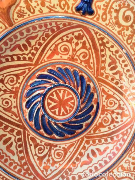 Antigüedades: ANTIGUO PLATO DE CERÁMICA DE REFLEJOS METÁLICOS MANISES - Foto 2 - 169721584