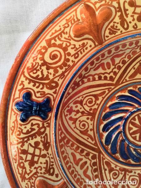 Antigüedades: ANTIGUO PLATO DE CERÁMICA DE REFLEJOS METÁLICOS MANISES - Foto 4 - 169721584