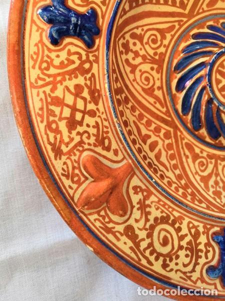 Antigüedades: ANTIGUO PLATO DE CERÁMICA DE REFLEJOS METÁLICOS MANISES - Foto 5 - 169721584