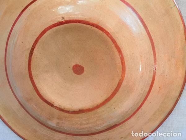 Antigüedades: ANTIGUO PLATO DE CERÁMICA DE REFLEJOS METÁLICOS MANISES - Foto 6 - 169721584