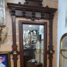 Antigüedades: RECIBIDOR DE MADERA MACIZA ANTIGUO. Lote 169722050