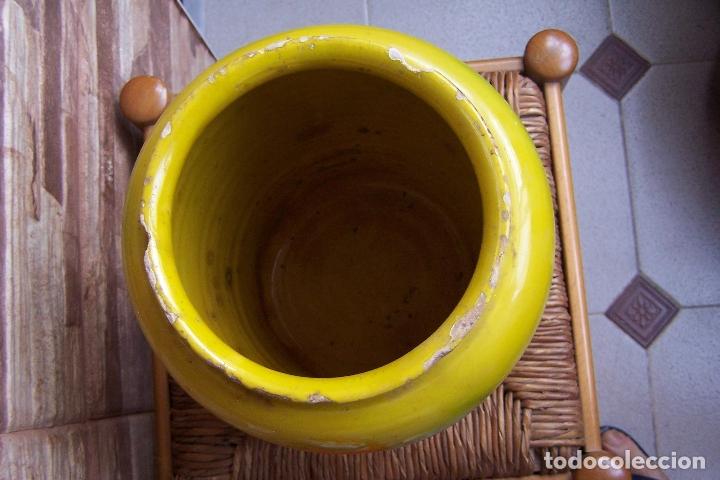 Antigüedades: ORZA DE BARRO, TINAJA VIDRIADA, MANTEQUERA 24 CMS. DE ALTURA. - Foto 3 - 169734312