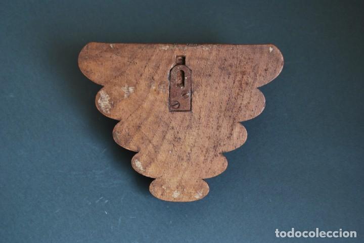 Antigüedades: MÉNSULA DE MADERA TALLADA - REPISA - BALDA - AÑOS 20-30 - ART DÉCO - Foto 6 - 169738780