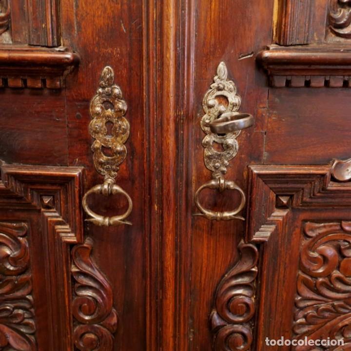 Antigüedades: Antiguo Armario Barroco Tallado. 1750 - 1780 - Foto 4 - 169752576
