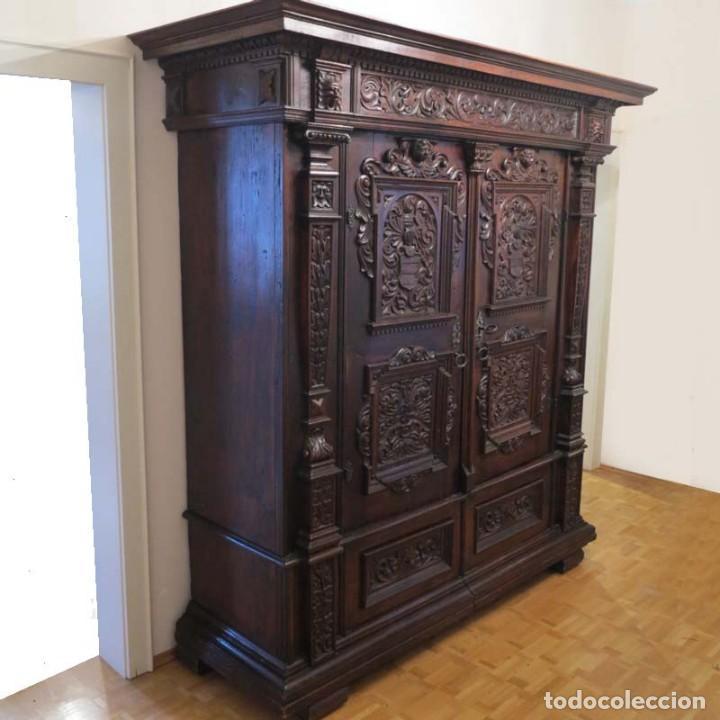 Antigüedades: Antiguo Armario Barroco Tallado. 1750 - 1780 - Foto 19 - 169752576