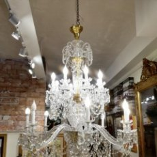 Oggetti Antichi: ARAÑA LAMPARA DE CRISTAL DE ROCA SIGLO XVIII. Lote 169763928