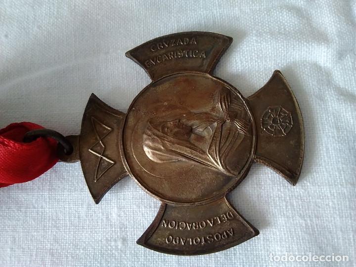 Antigüedades: 26-MEDALLA APOSTOLADO DE LA ORACION, CRUZADA EUCARISTICA - Foto 6 - 169767280