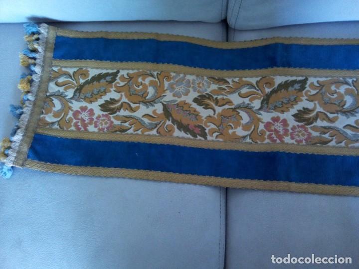 * TAPETE TERCIOPELO Y TAPICERIA.CAMINO DE MESA.97 CM (RF:84 /A) (Antigüedades - Hogar y Decoración - Tapetes Antiguos)