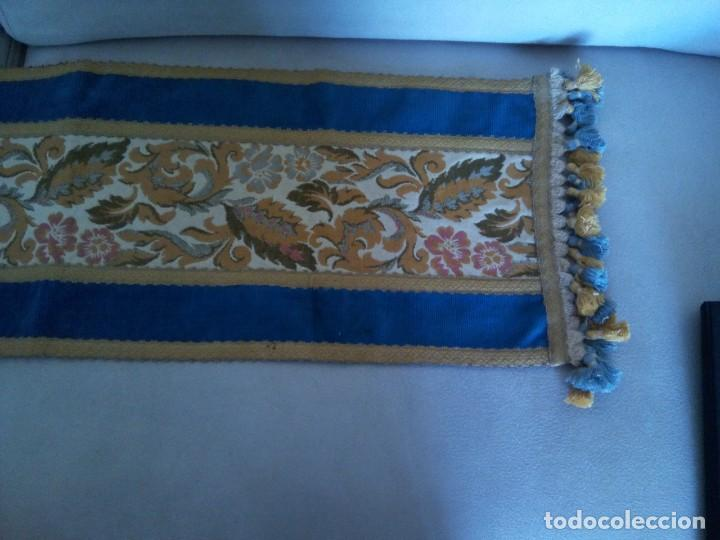 Antigüedades: * TAPETE TERCIOPELO Y TAPICERIA.CAMINO DE MESA.97 CM (Rf:84 /a) - Foto 2 - 169788236