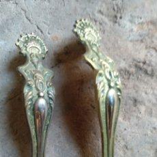 Antigüedades: PAREJA TIRADORES LATON. Lote 169789994