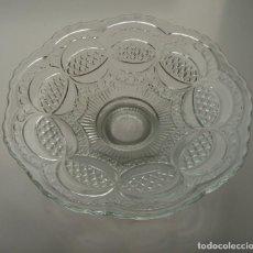 Antigüedades: PIE DE POSTRE. CRISTAL DE SANTA LUCÍA. CARTAGENA, MURCIA. SIGLO XIX-XX.. Lote 169797656