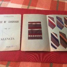 Antigüedades: CORBATERIA JOSE Mª CUADRADO - VALENCIA - 2 MUESTRARIOS DE COLORES - AÑOS 30. Lote 204984500