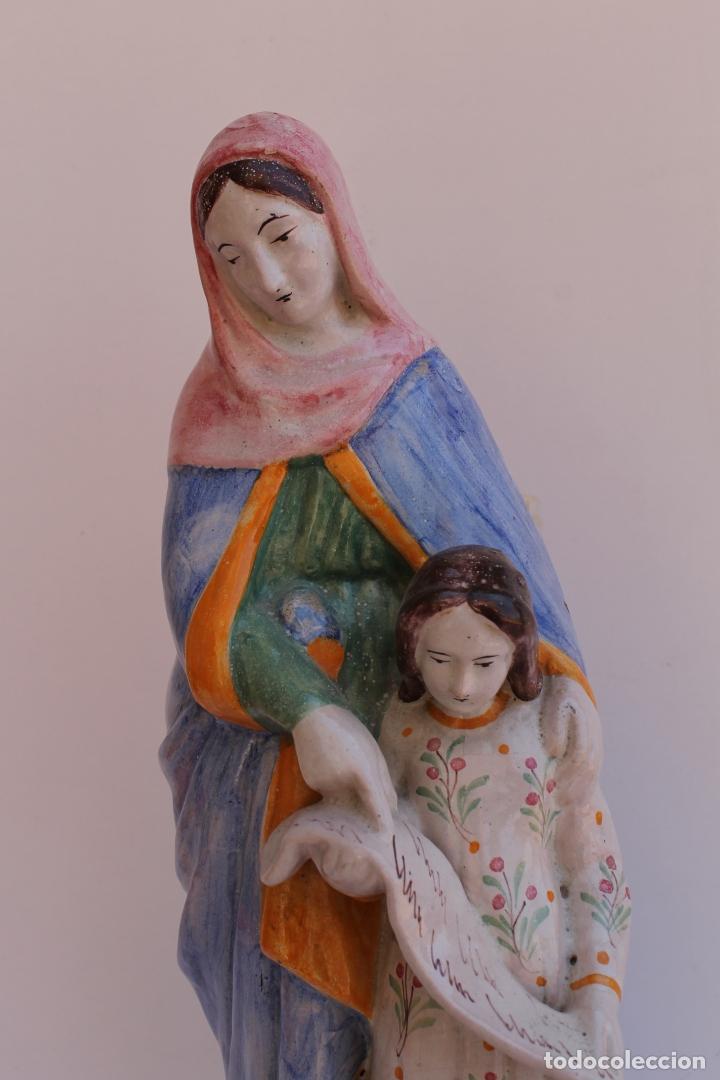 Antigüedades: FIGURA DE CERAMICA SAINTE ANNE - Foto 3 - 169806068