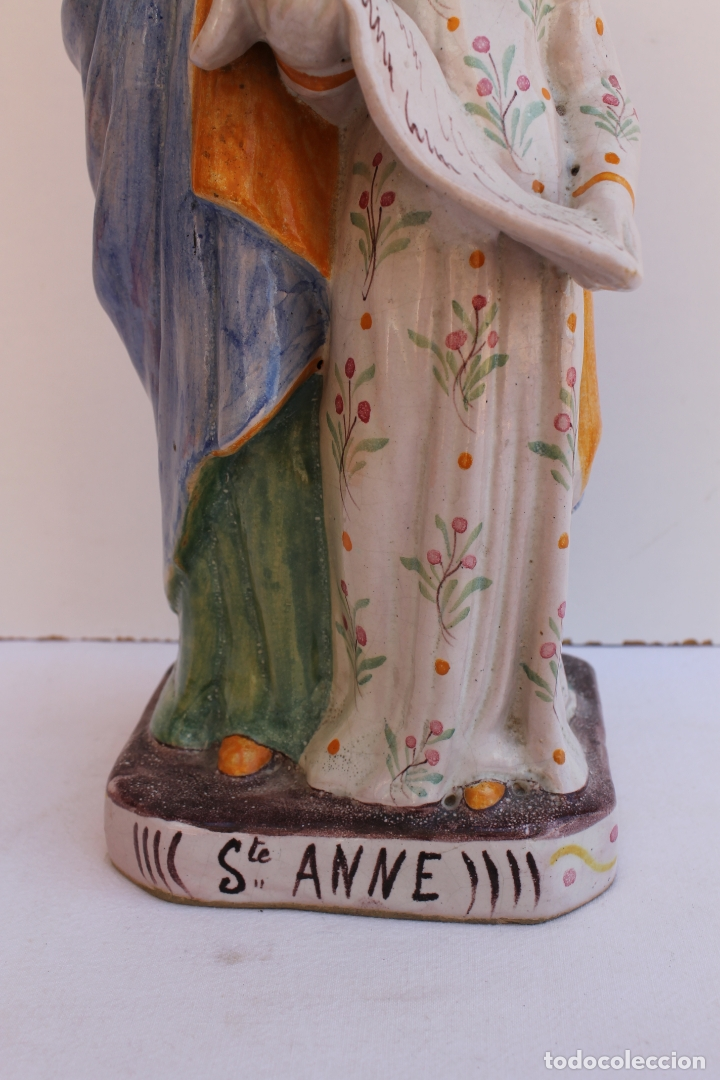 Antigüedades: FIGURA DE CERAMICA SAINTE ANNE - Foto 4 - 169806068