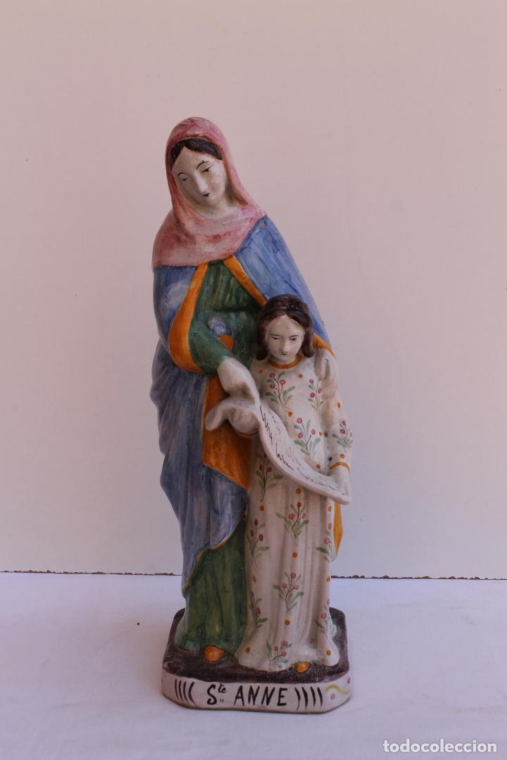 FIGURA DE CERAMICA SAINTE ANNE (Antigüedades - Porcelana y Cerámica - Francesa - Limoges)