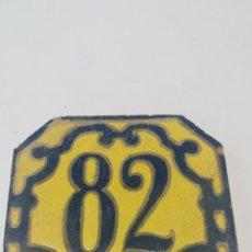 Antigüedades: BALDOSA NÚMERO 82. Lote 169818734