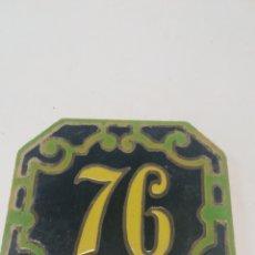 Antigüedades: BALDOSA NÚMERO 76 TRIANA. Lote 169818909
