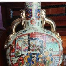 Antigüedades: ANTIGUO JARRON PORCELANA PINTADO A MANO. Lote 169829836
