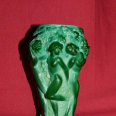 Antigüedades: (M) ART NOVEAU - JARRO DE ART NOVEAU ORIGINAL ( NO COPIA ) MUJERES DESNUDAS , 13X7 CM. Lote 169876068