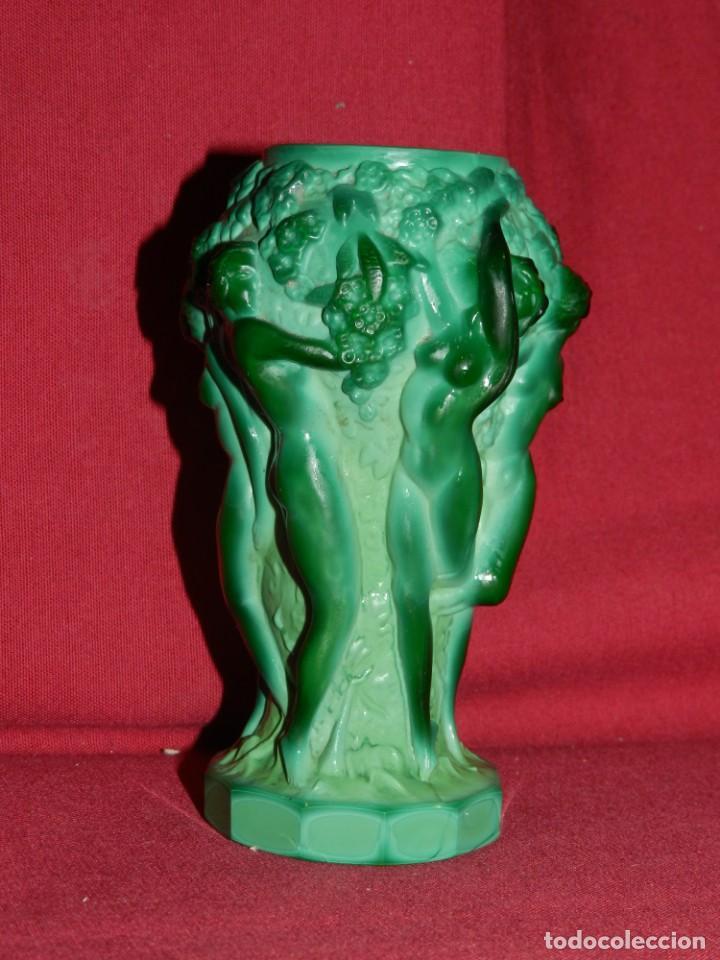 Antigüedades: (M) Art Noveau - Jarro de Art Noveau Original ( No Copia ) Mujeres Desnudas , 13x7 cm - Foto 2 - 169876068