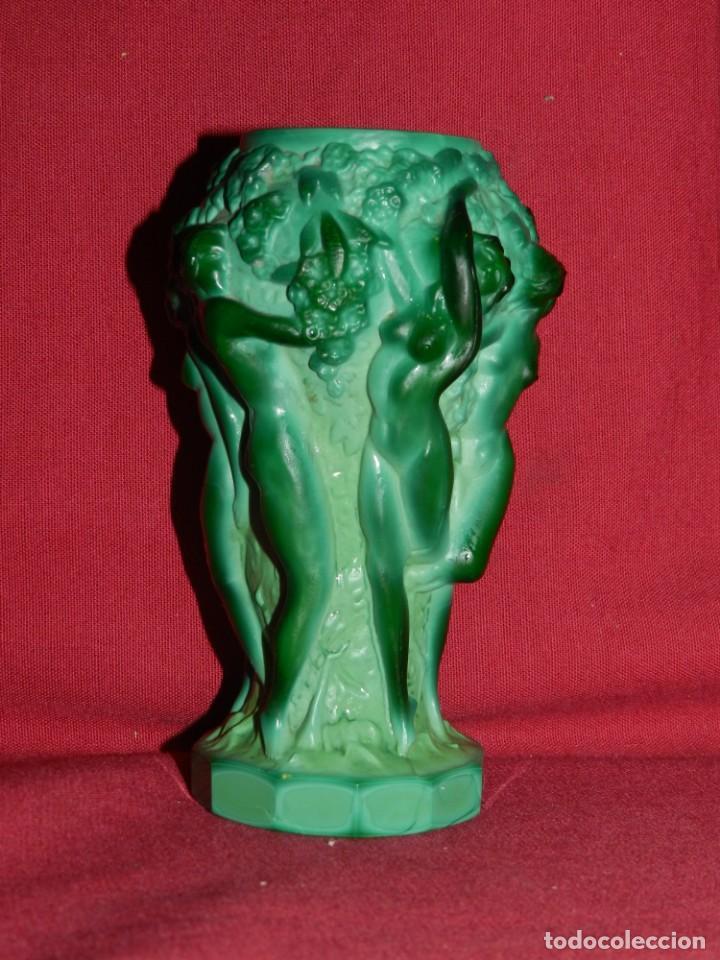 Antigüedades: (M) Art Noveau - Jarro de Art Noveau Original ( No Copia ) Mujeres Desnudas , 13x7 cm - Foto 5 - 169876068
