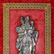 Antigüedades: SAN JOSÉ. RELIEVE EN PLATA CINCELADA. PUNZONES. ESPAÑA (?) XVIII-XIX. Lote 169880844