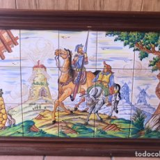 Antigüedades: CUADRO DE DON QUIJOTE Y SANCHO PANZA, DE TALAVERA DE LA REINA. Lote 169888961