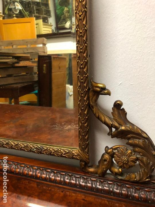 Antigüedades: MAGNIFICA COQUETA PEINADORA IMPERIAL REALIZADA A MANO EN LIMONCILLO - 146X108X58 CM DE PROFUNDIDAD - Foto 12 - 169901044