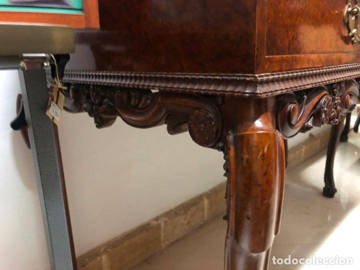 Antigüedades: MAGNIFICA COQUETA PEINADORA IMPERIAL REALIZADA A MANO EN LIMONCILLO - 146X108X58 CM DE PROFUNDIDAD - Foto 14 - 169901044