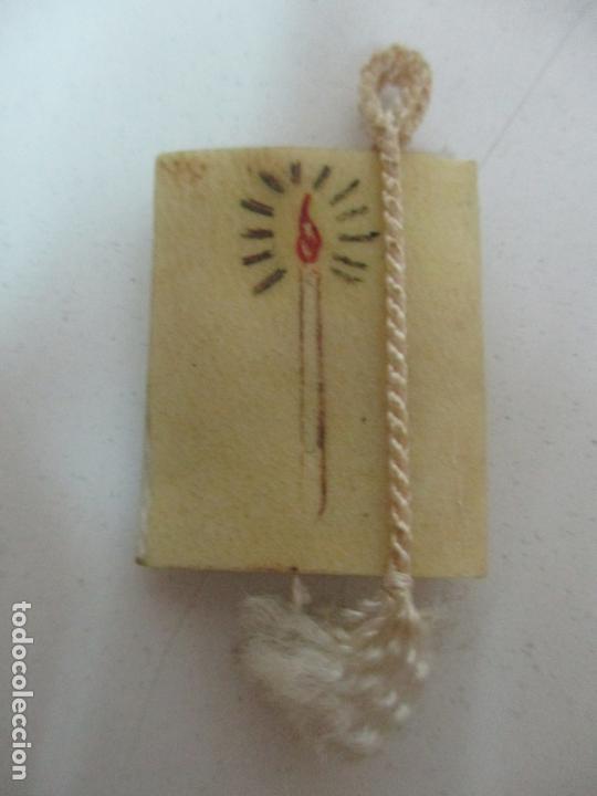 Antigüedades: Antiguo Libro Escapulario - Los Cuatro Santos Evangelios - S. XIX - Foto 2 - 169905036