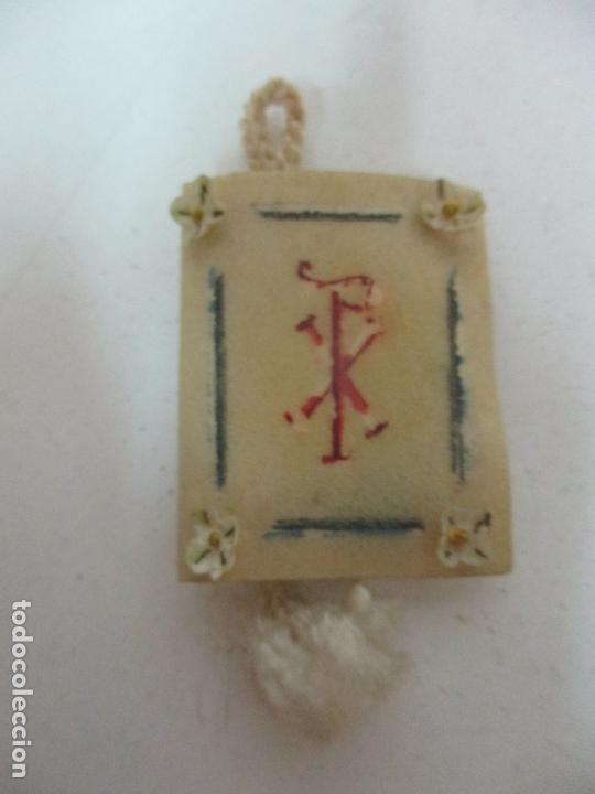 Antigüedades: Antiguo Libro Escapulario - Los Cuatro Santos Evangelios - S. XIX - Foto 3 - 169905036