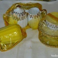 Antigüedades: VINTAGE - NOS - NUEVO, PIEZAS JUEGO CAFÉ - PORCELANAS Y CERÁMICA SANTA CLARA - VIGO - AÑOS 60 ¡MIRA!. Lote 169914530