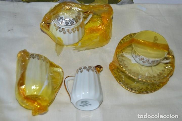Antigüedades: VINTAGE - NOS - NUEVO, Piezas JUEGO CAFÉ - Porcelanas y cerámica SANTA CLARA - VIGO - AÑOS 60 ¡Mira! - Foto 2 - 169914530