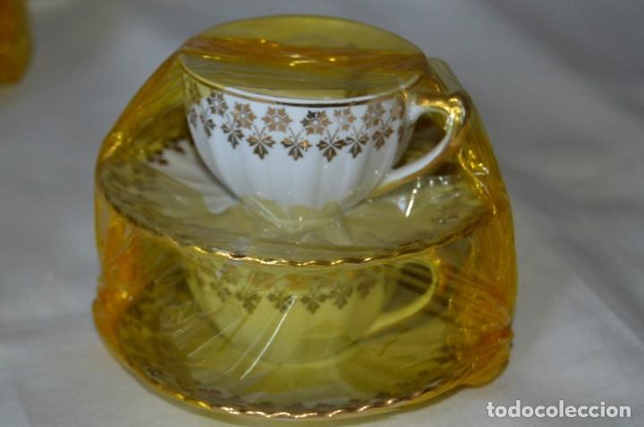 Antigüedades: VINTAGE - NOS - NUEVO, Piezas JUEGO CAFÉ - Porcelanas y cerámica SANTA CLARA - VIGO - AÑOS 60 ¡Mira! - Foto 4 - 169914530