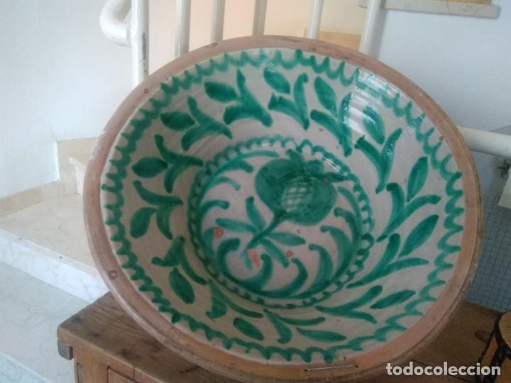 LEBRILLO DE CERÁMICA DE FAJALAUZA. 65 CM DE DIÁMETRO (Antigüedades - Porcelanas y Cerámicas - Fajalauza)