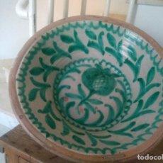 Antigüedades: LEBRILLO DE CERÁMICA DE FAJALAUZA. 65 CM DE DIÁMETRO. Lote 169925280