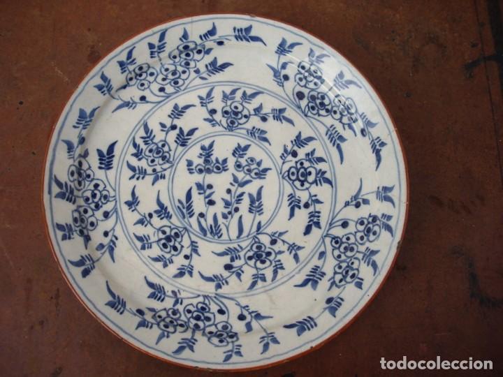 PLATO DELF CERAMICA ,SIGLO XVIII, (Antigüedades - Porcelana y Cerámica - Holandesa - Delft)