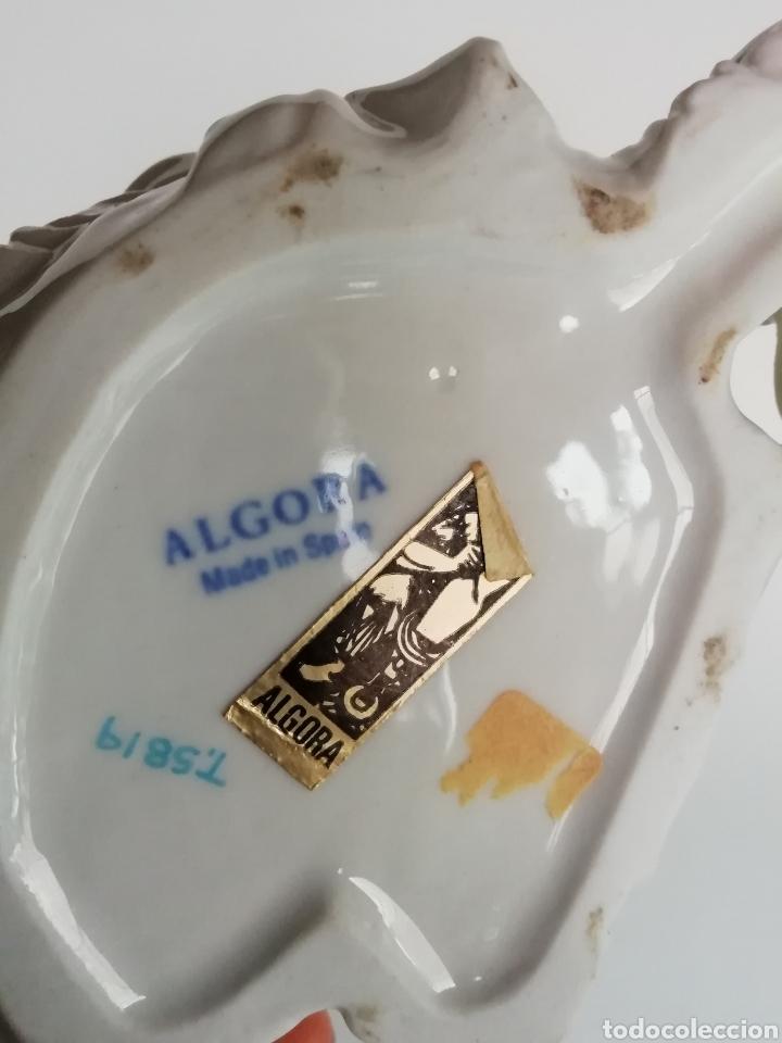 Antigüedades: Figura Porcelana Algora Perro 20 cm - Foto 5 - 169963088