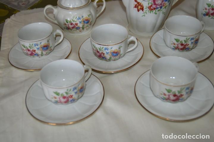 Antigüedades: VINTAGE - Como NUEVO, JUEGO CAFÉ - Porcelanas SANTA CLARA - VIGO - AÑOS 60 ¡Mira! - Foto 3 - 169969952