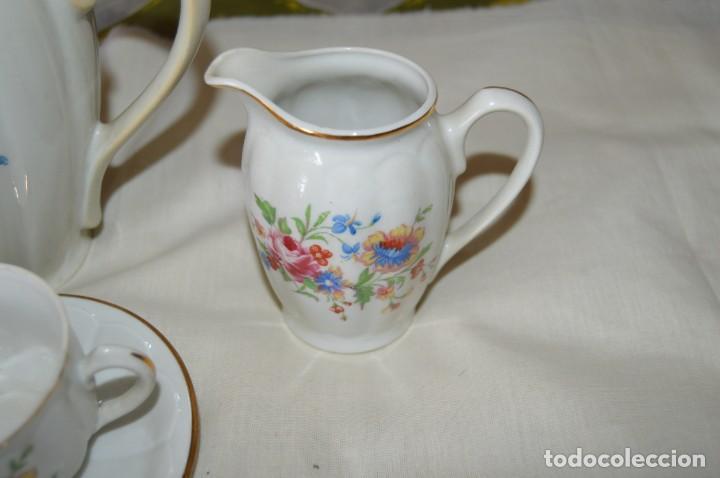 Antigüedades: VINTAGE - Como NUEVO, JUEGO CAFÉ - Porcelanas SANTA CLARA - VIGO - AÑOS 60 ¡Mira! - Foto 5 - 169969952