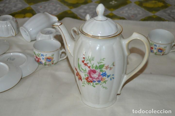 Antigüedades: VINTAGE - Como NUEVO, JUEGO CAFÉ - Porcelanas SANTA CLARA - VIGO - AÑOS 60 ¡Mira! - Foto 6 - 169969952