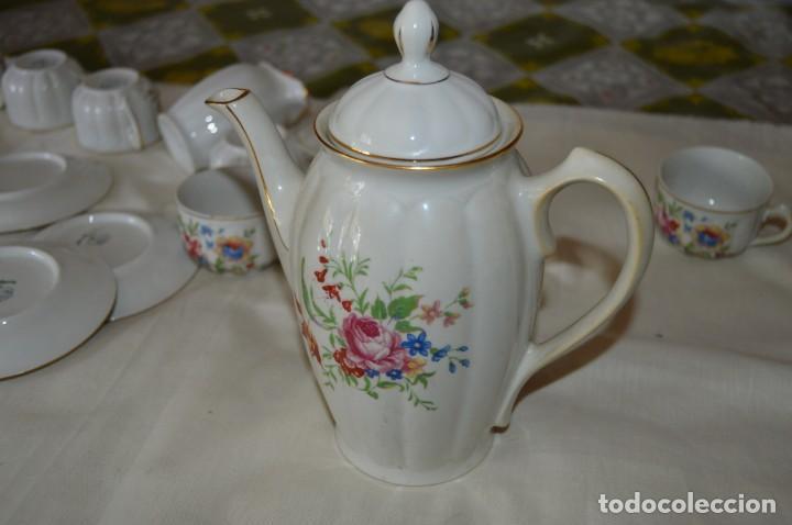 Antigüedades: VINTAGE - Como NUEVO, JUEGO CAFÉ - Porcelanas SANTA CLARA - VIGO - AÑOS 60 ¡Mira! - Foto 7 - 169969952