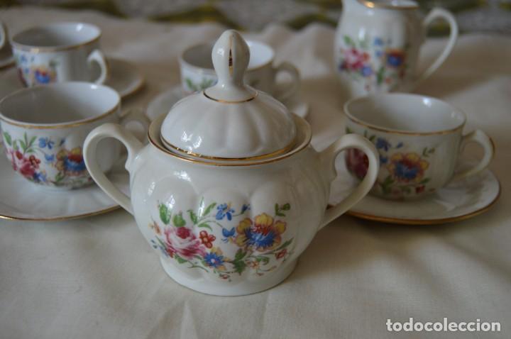 Antigüedades: VINTAGE - Como NUEVO, JUEGO CAFÉ - Porcelanas SANTA CLARA - VIGO - AÑOS 60 ¡Mira! - Foto 8 - 169969952