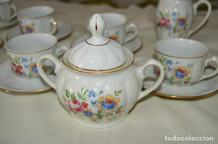 Antigüedades: VINTAGE - Como NUEVO, JUEGO CAFÉ - Porcelanas SANTA CLARA - VIGO - AÑOS 60 ¡Mira! - Foto 9 - 169969952