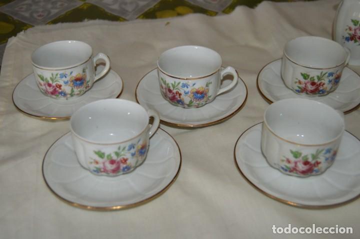 Antigüedades: VINTAGE - Como NUEVO, JUEGO CAFÉ - Porcelanas SANTA CLARA - VIGO - AÑOS 60 ¡Mira! - Foto 10 - 169969952