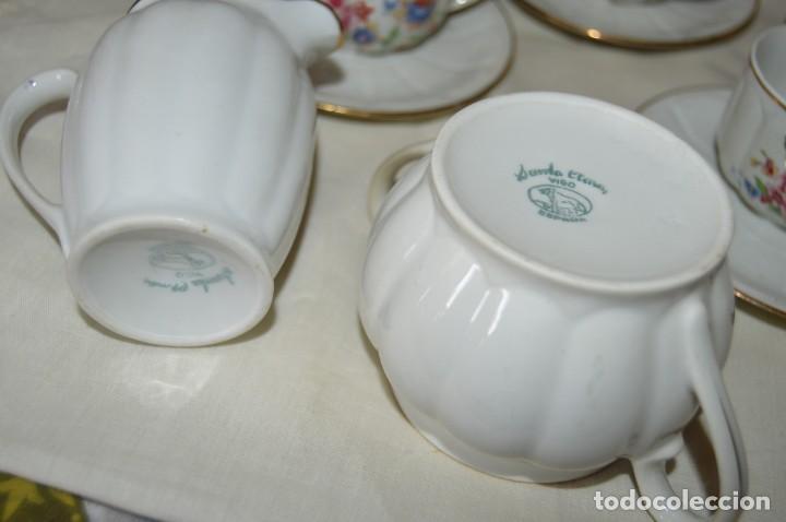 Antigüedades: VINTAGE - Como NUEVO, JUEGO CAFÉ - Porcelanas SANTA CLARA - VIGO - AÑOS 60 ¡Mira! - Foto 12 - 169969952