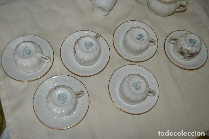 Antigüedades: VINTAGE - Como NUEVO, JUEGO CAFÉ - Porcelanas SANTA CLARA - VIGO - AÑOS 60 ¡Mira! - Foto 14 - 169969952